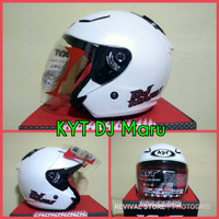 Helm KYT DJ Maru Solid white pearl