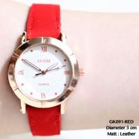 Jam tangan fossil kulit leather grosir termurah fashion remaja guess