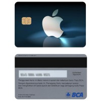 Apple logo Kartu e-money E-toll Flazz BCA Custom