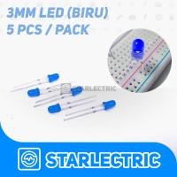 LED 3mm Biru (5pcs/pack)