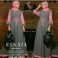 Gamis Renata Maxi Dress Grey-Pink