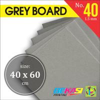 Karton Tebal Grey Hard Board Abu abu No. 40 - Uk. A2- 40 x 60 cm