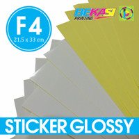Kertas Sticker Chromo Glossy Ukuran Folio | Stiker Kromo