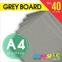 Karton Tebal Grey Hard Board Abu abu No. 40 - Uk. A4 21 x 29.7 cm