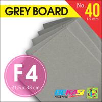 Karton Tebal Grey Hard Board Abu No. 40 - Uk. F4 Folio - 21.5 x 33 cm