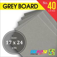 Karton Tebal Grey Hard Board Abu abu No. 40 - Uk. B5 - 17 x 24 cm