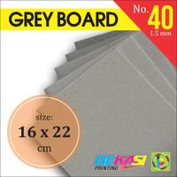 Karton Tebal Grey Hard Board Abu abu No. 40 - Uk. 16 x 22 cm
