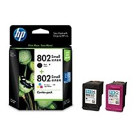 TINTA PRINTER HP 802 SMALL COMBO PACK BLACK AND TRI COLOUR