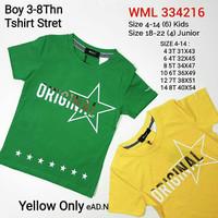 Baju korea anak cowok tshirt kuning import branded 216S