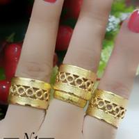 Cincin lapis emas 24k (harga satuan) 070518