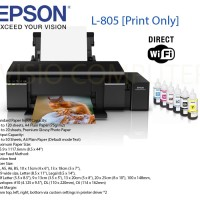 Printer Photo EPSON L805 (stylus photo + wifi)