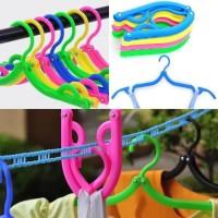 Hanger Lipat Portable Gantungan Jemuran Baju Travel Foldable