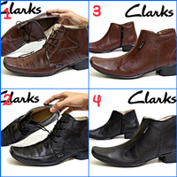 Sepatu Pantofel Kerja Formal Pria Clarks Kulit Asli Grade Original