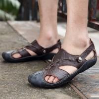 Musim panas pria sepatu gaya baru kualitas tinggi bernapas sandal pria