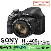 DSC H400 - 20.1 MP - 63x Optical Zoom - Hitam - Sony oke Big Diskon