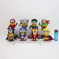 Figure Minions Super Heroes isi 8