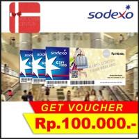 Paket Voucher Sodexo 100rb sebanyak 3 juta (30 lembar)