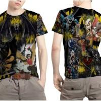 Kaos T- Shirt Pria Custom Batman Comic Mode 02 full Print