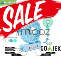 Jual Mini Fan Powerbank Hippo Fans-01 2200 mAh High Capacity Garansi Resmi Murah