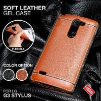 Softcase TPU PU Leather Ultra Slim Cover Case Casing HP LG G3 Stylus