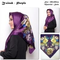 Zainab | Bunga | Bahan Satin | Pashmina/Hijab/Kerudung/Scarf/Jilbab