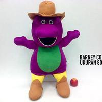 Boneka Barney Koboy Besar Dinosaurus Dino Lembut 80cm Jumbo