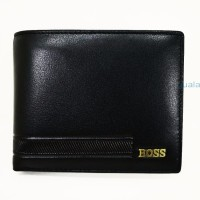 promo dompet kulit pria Hugo Boss DK1603 black pria smart