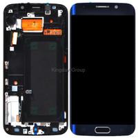 ORIGINAL SAMSUNG S6 EDGE G925 LCD Touchscreen + BEZEL Black Sapphire