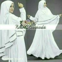 MURAH Najibah Syar'i white Busana Muslim wanita warna putih Gamis