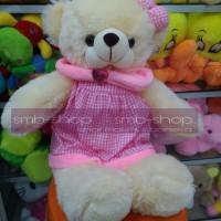 (Sale) Boneka Teddy Bear Cute in Dress Lucu T45CM SNI