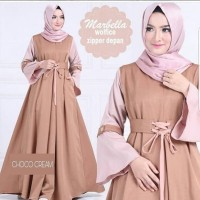 Baju Long Dress Muslim Wanita Murah Dan Terbaru/Marbella Dress Modern