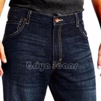 celana panjang jeans prianewbrand Wrangler Biru Dongker