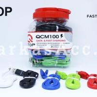 (Bergaransi) Kabel Data Qtop QCM100 Micro USB 100CM fast charging
