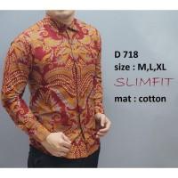 Batik Pria Lengan Panjang Baju Kemeja Motif Modern Batik Couple Murah