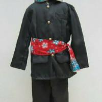 Jual Pakaian adat anak baju betawi+blangkon size S - M Murah