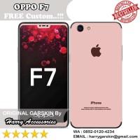 Original Garskin Oppo F7 Motif iPhone Rose Gold -Free Custom Gambar