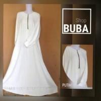 GROSIR BAJU Gamis Putih/Gamis Syar'i/ Wolfis / Wolvis/Umbrella Style