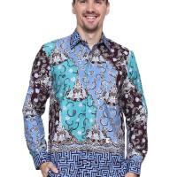 Kemeja Batik Pria Asli Jambi Abstrak Berkualits - Zalltra LV7