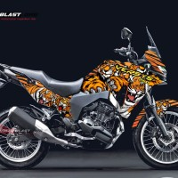 Decal Stiker KAWASAKI VERSYS 250 TIGER CAMOUFLAGE V2
