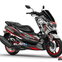 Decal Stiker Yamaha NMAX SILVER RED WOLF REGENERATE