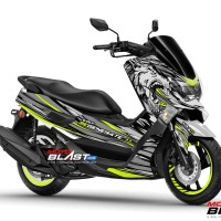 Decal Stiker Yamaha NMAX SILVER WOLF REGENERATE
