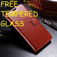 LEATHER KULIT SAMSUNG GALAXY J7 PLUS J7+ FLIP COVER WALLET CASING CASE
