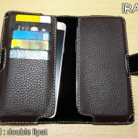 SAMSUNG S7 EDGE Dompet / Sarung Hp Smartphone Model Double