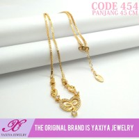 Kalung Koye Permata Lapis emas Perhiasan imitasi Yaxiya Jewelry 454