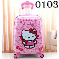 tas koper luggage anak hello kitty fiber 16 inch 4 roda