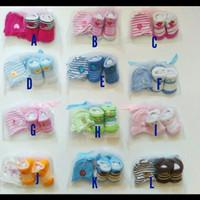 Mitten boosties-sarung tangan dan kaos kaki bayi