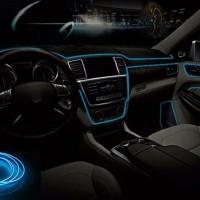 Lampu Neon Dashboard Mobil Optical Light Ice Blue 3 Meter