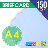Kertas Karton BC / Briefcard Polos Ukuran A4 (210 x 297)