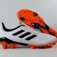 Sepatu Bola Adidas Predator 18.4 White Black Red FG Replika Impor
