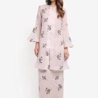 Baju Muslim Pesta Embroidered Fitted Kebaya Warna Pink/Nude uk XS-XXL